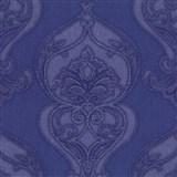 Vliesové tapety na zeď Studio Line - Graceful zámecký vzor modro-fialový se třpytem