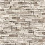 Tapety na stěnu papírové - kamenný obklad světle hnědý