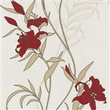 Tapety na zeď Timeless - lilie červené