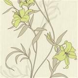 Tapety na zeď Timeless - lilie zelené
