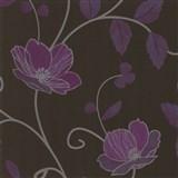 Luxusní tapety Trésor - japonské květy - fialové - SLEVA