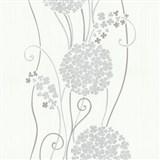 Vliesové tapety na zeď Tribute - květy cibulové šedé