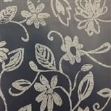 Ubrusy metráž transparentní s bílými květy - matný povrch