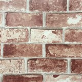 Papírové tapety na zeď cihla hnědo-červená